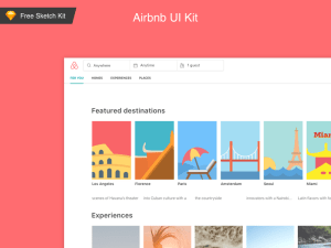 Free AirBnb UI Kit (Sketch)