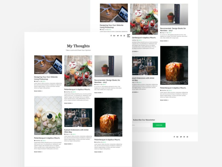 Free Blog Masonry Template