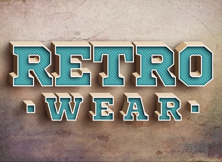 Blue Retro Text Effect