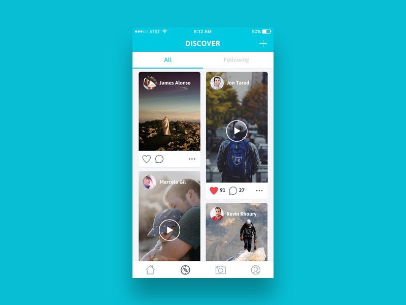 Discover App UI Design