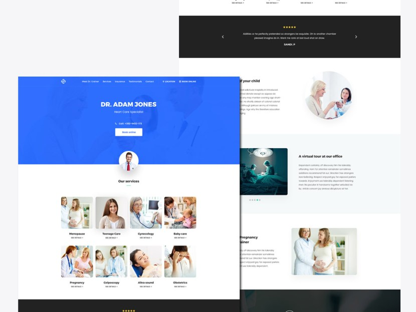 Doc- Free Medical Landing Page Template