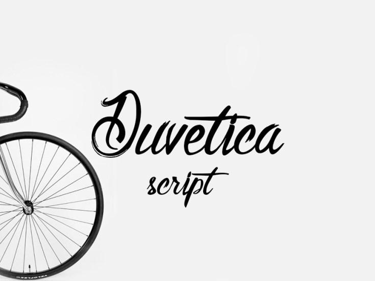 Duvetica free font
