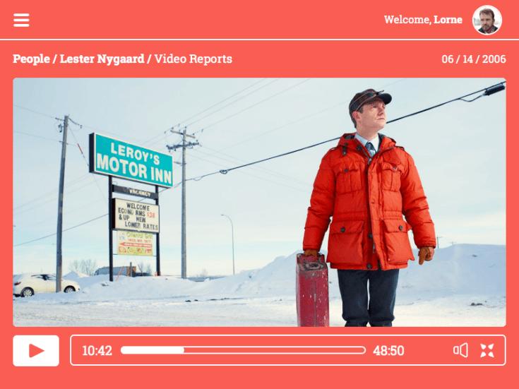 Fargo Sketch Video Player