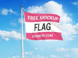 Flag Mockup PSD Template