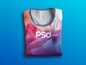 Free Folded T-Shirt Mockup Template