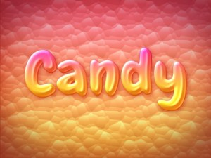 Sweet Candy Text Effect PSD