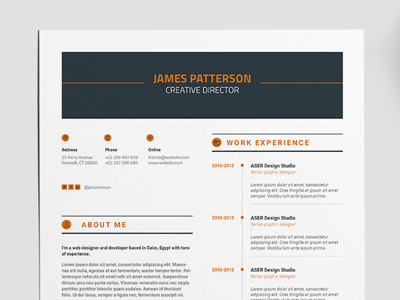 Free Creative Indesign Resume Template