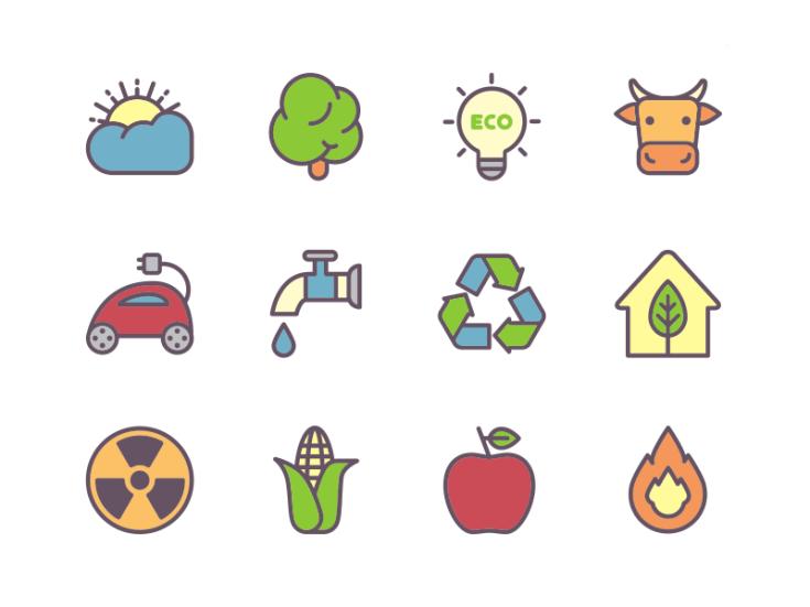 Free Ecology Icon Set