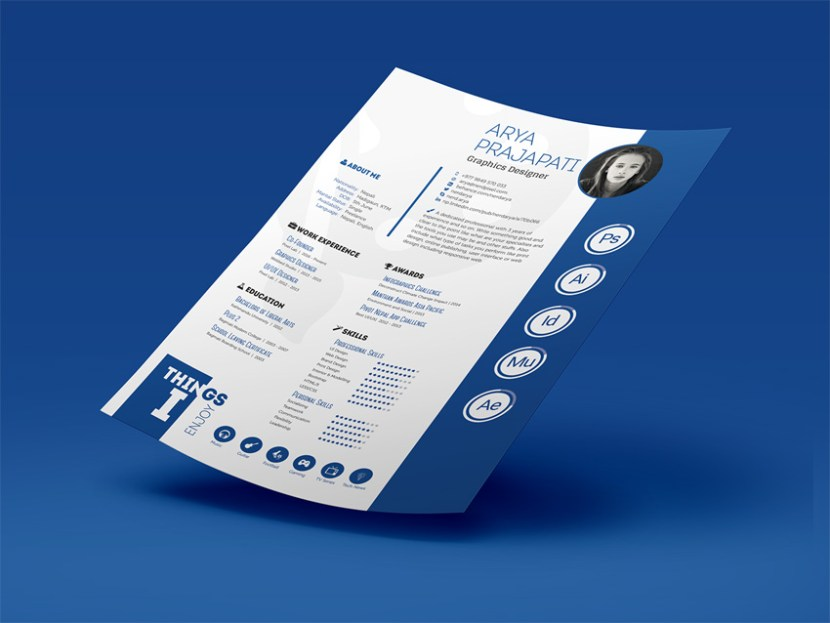 free print ready resume template