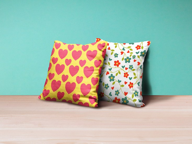 Free Realistic Pillow Mockup