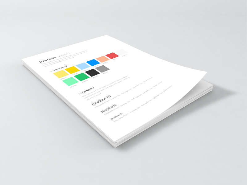 Free Style Guide Sketch Template