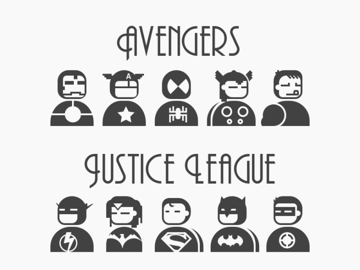 Justice League and Avengers Icon Set