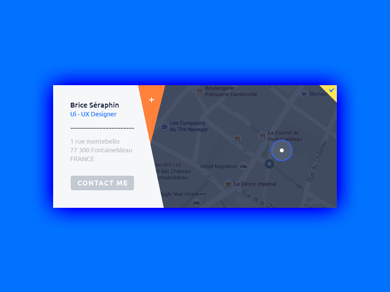 Location Map UI Design