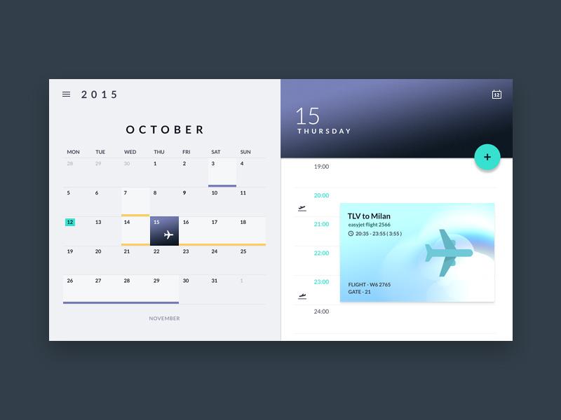 Material Calendar UI Design