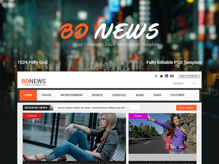 Newspaper Website Template