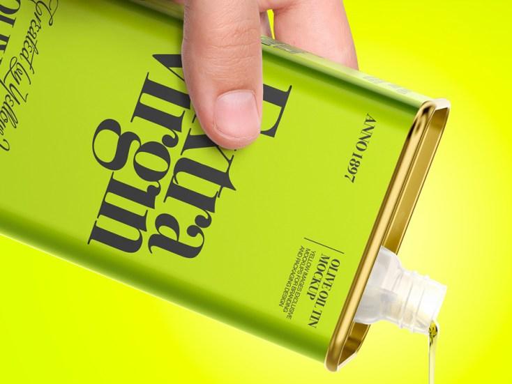 Olive Oil Packaging Mockup