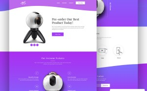 Product Landing Page Website Template