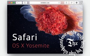Safari Yosemite Browser Mockup
