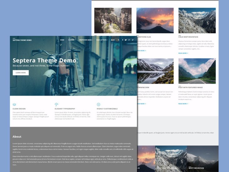 Septera - Free Business Wordpress Theme
