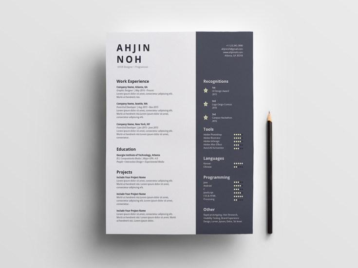 Simple Illustrator Resume Template