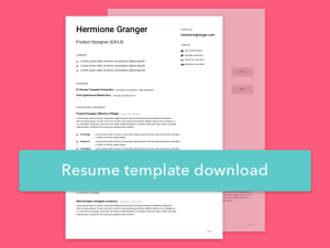 Free Simple Sketch Resume Template