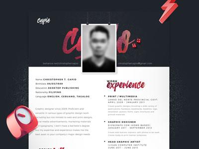 Single Page CV Resume Template