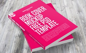 Free Top view Book Cover mockup