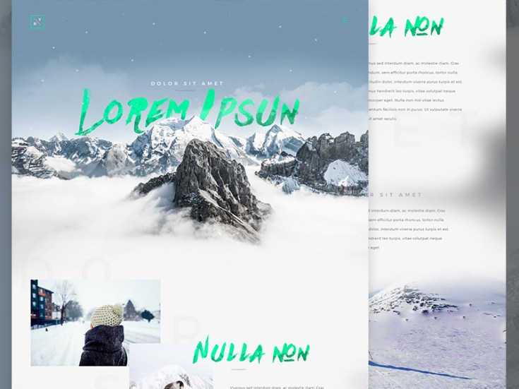 Winter Website Template