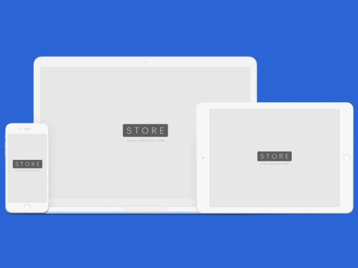 Flat iPhone, iPad & Macbook Mockup