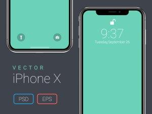 Free Vector iPhone X Mockup