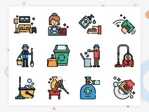 50 Free Cleaning Icons in Multiple File Format
