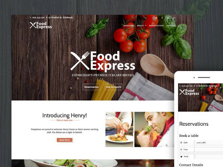 Food Express – Free Food Related WordPress Theme