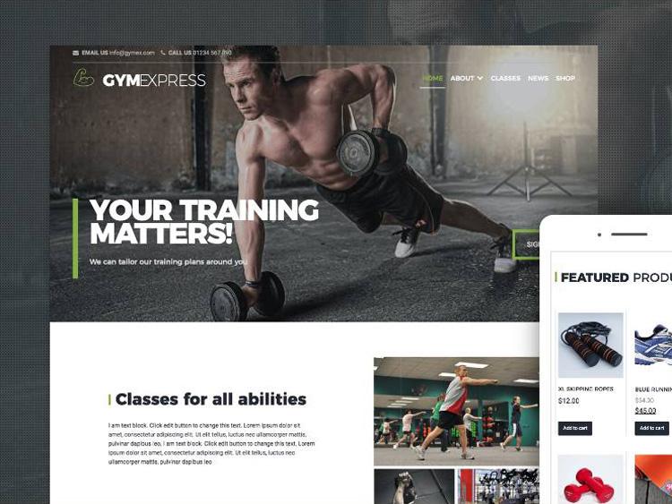 Gym Express  : Free Sport Club WordPress theme
