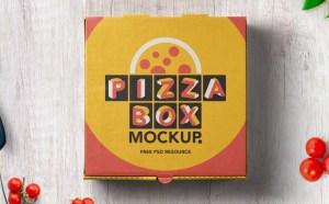 Free Realistic Pizza Box Mockup