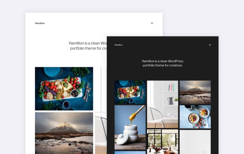Hamilton – Minimalist Portfolio WordPress Theme