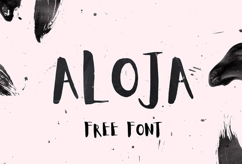 Aloja Free Handwritten Typeface