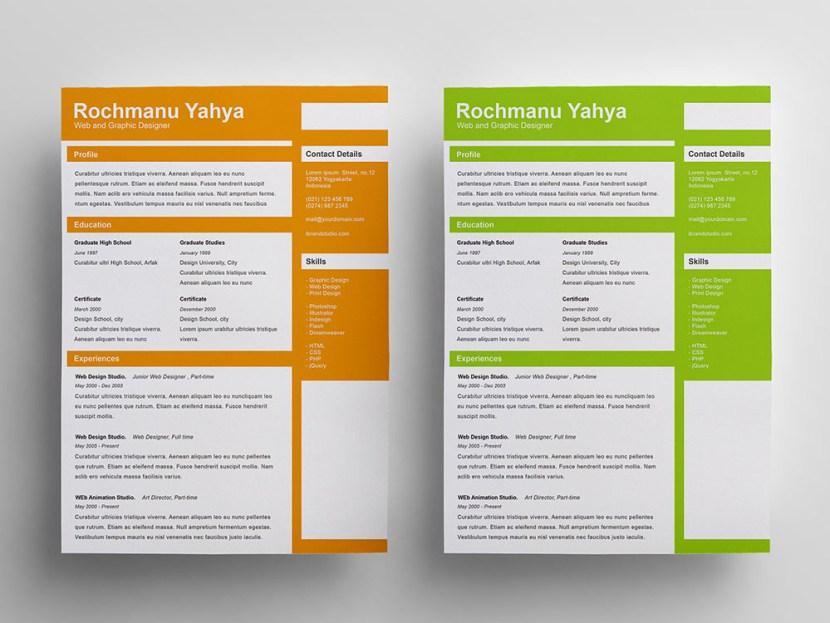 Clean Flat Resume Template