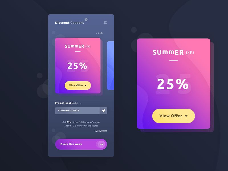 Coupons App UI Template