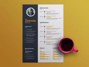Free Creative Resume Template with Elegant Design