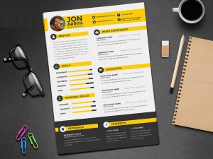 Free Flat Stylish CV Template