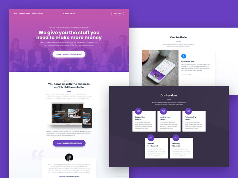 Free Agencies Landing Page Template
