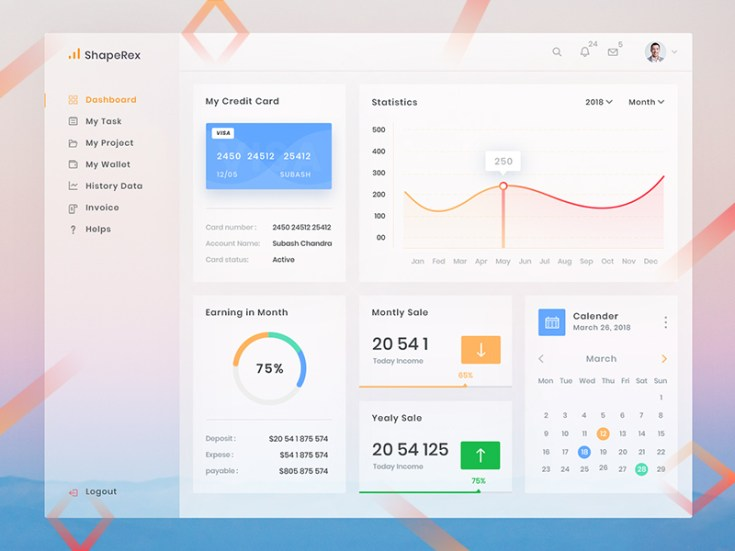 Free Clean Dashboard UI Template