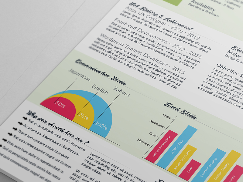 Free Clean Infographic Resume Template