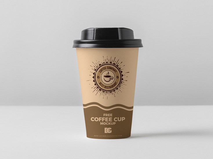 Free Coffee Cup Mockup PSD Template