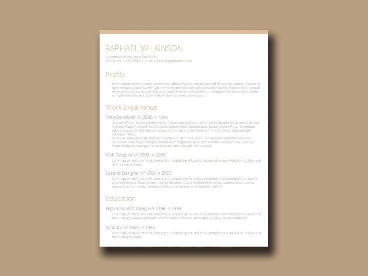 Free Crafty Resume Template