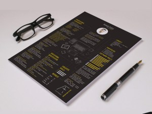 Free Creative Black Resume Template