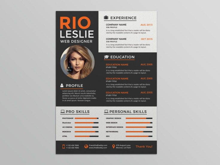 Free Creative Modern Resume Template