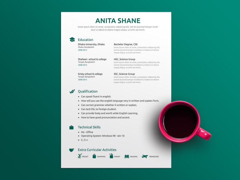 Free Fresh Elegant Resume Template