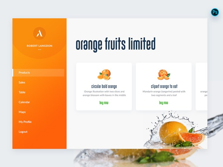Free Fruits Website Template