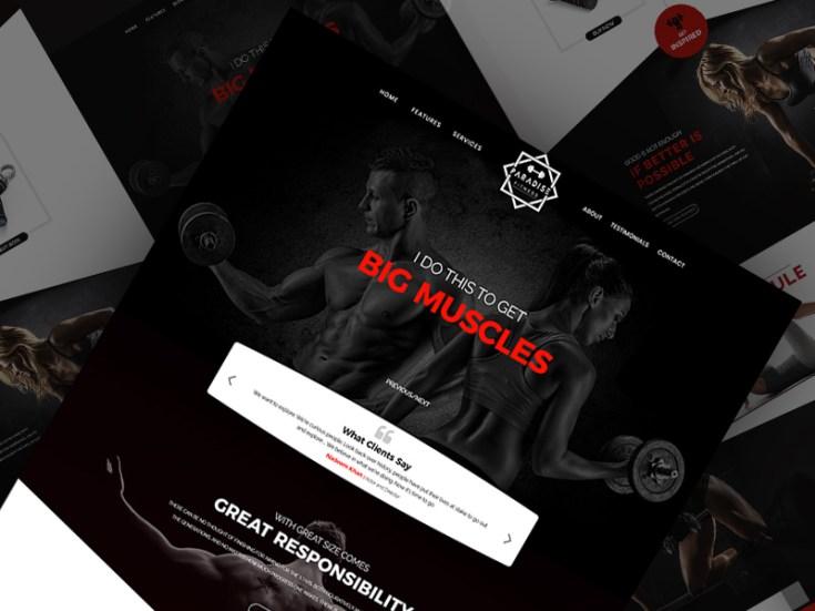 Free Gym Website Template